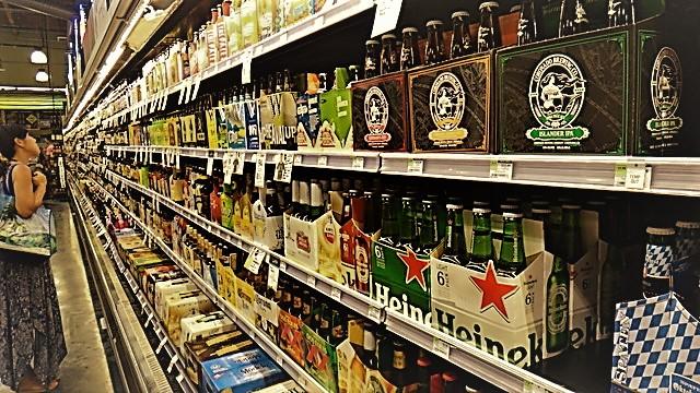 ハワイビールの棚